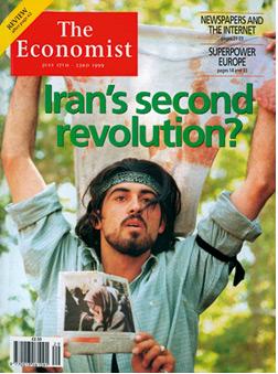 Iranian Student Demonstrator, Tehran, 1999.