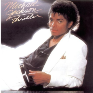 Jackson's Thriller album cover.