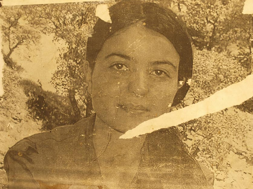 A dated photo of a female shaheed, or martyr, at the PKK cemetary. Roj informed me that this woman was actually an ethnic Turk fighting against her own ethno-nationalist government. ©2009 Derek Henry Flood