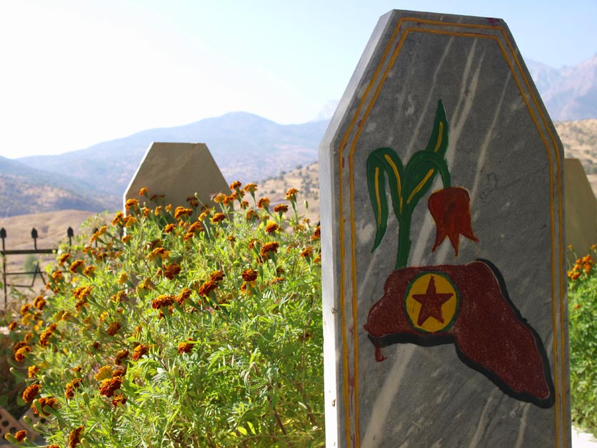 A PJAK graveyard in the Qandil region along the Iraq-Iran border. ©2009 Derek Henry Flood