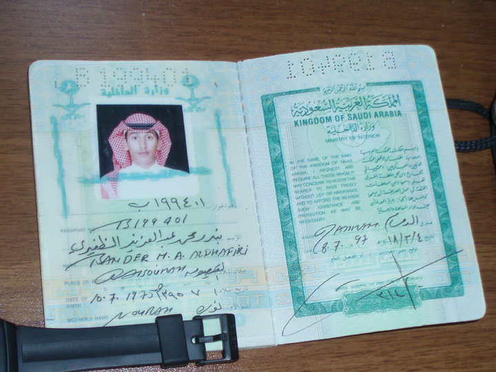 The passport of a long dead young Saudi shaheed who I'll assume died in vain in Chechnya as Russian cannon fodder. His Georgian visa was dated 1999 and perhaps he served in Khattab's Arab unit? ©2009 DHF