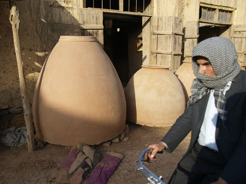 Ever wonder where your nan comes from? These giant baked clay tandoor ovens. ©2009 Derek Henry Flood