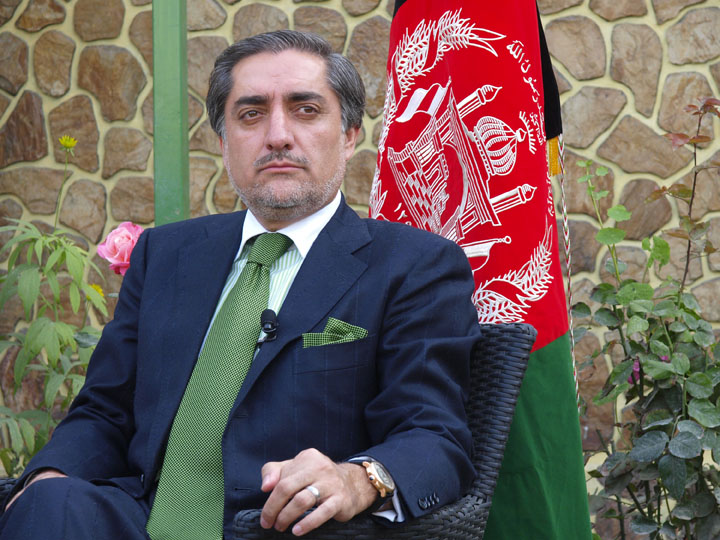 Dr. Abdullah sits uneasily in his garden after vaguely explaining his reasons for dropping out of the Afghan presidential race. ©2009 Derek Henry Flood