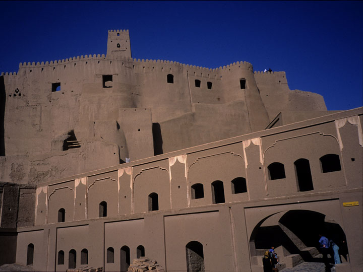 Another shot of the magnificent mud brick Citadel following the eclipse. Notice the sky is still slightly dark. ©1999 Derek Henry Flood
