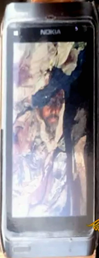 A screen shot of a Chadian soldier's mobile phone image that Chadian troops allege to be Mokhtar Belmokhtar.