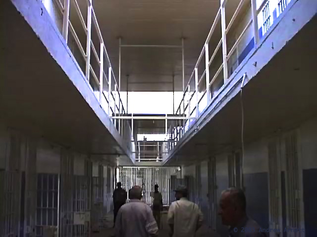 Walking the halls of Abu Ghraib. ©2003 Andrew Arnett