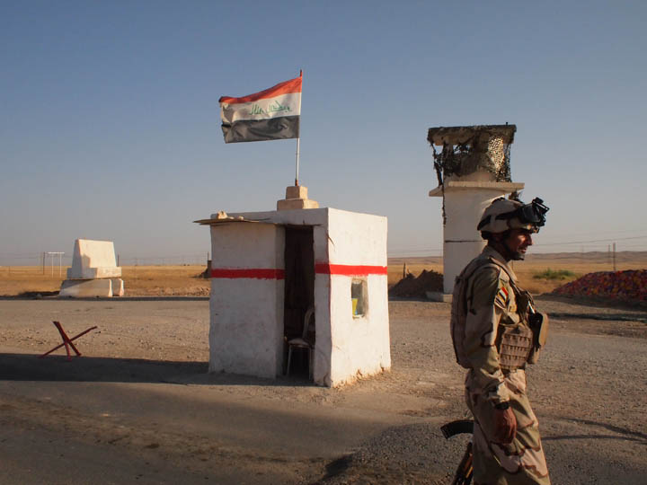 This Iraqi Army checkpoint in rural Kirkuk Governorate felt isolated and highly vulnerable. ©2013 Derek Henry Flood