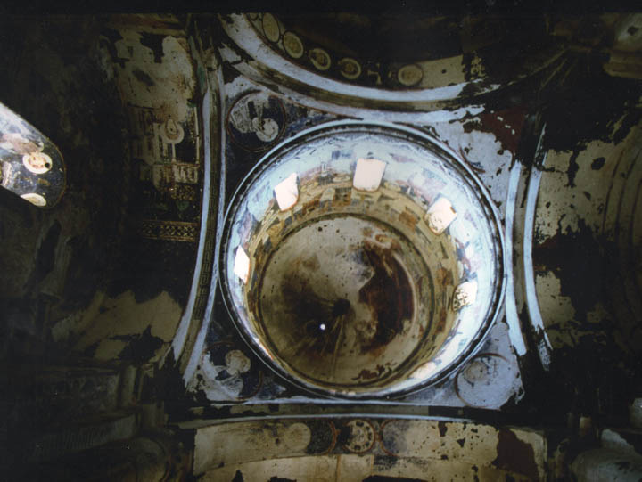 The frescoed dome of the Church of St. Gregory of Tigran Honents at Ani, Turkey. ©1999 Derek Henry Flood