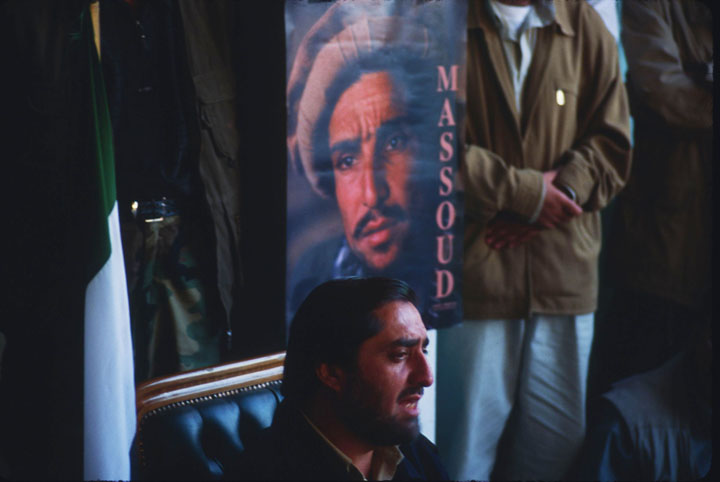 Abdullah Abdullah holding a press conference in the garrison town of Khoja Bahauddin in Takhar Province abutting Tajikistan in early November 2001. ©2001 Derek Henry Flood