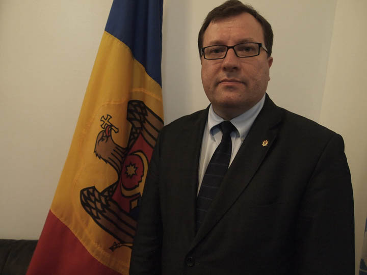 Moldovan Ambassador Vlad Lupan photographed in his office on June 3. ©2014 Derek Henry Flood