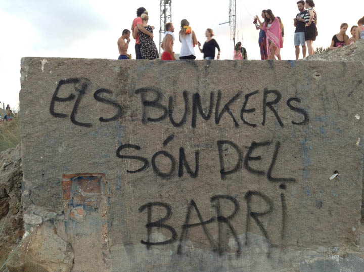 A bunker from the Spanish Civil War has now become an underground party place for people here. ©2014 Derek Henry Flood