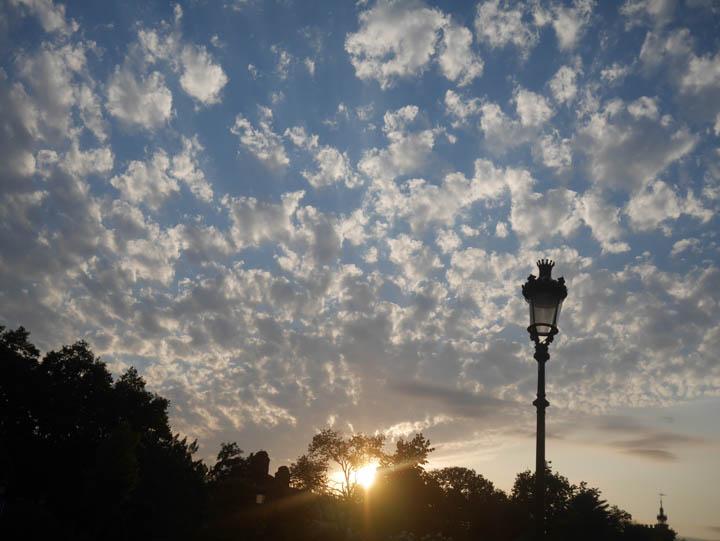 The sun sets over Cituadella Parc. ©2014 Derek Henry Flood