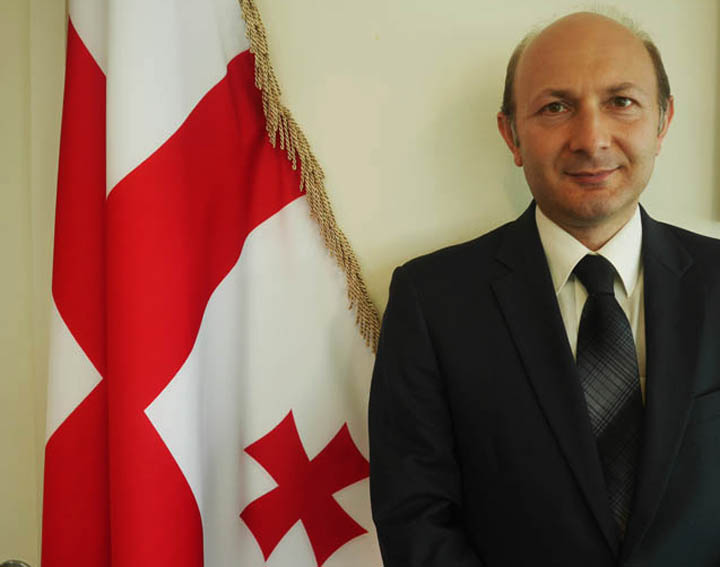 Georgia's ambassador to the United Nations, Kaha Imnadze, photographed in his New York office on July 9. ©2014 Derek Henry Flood