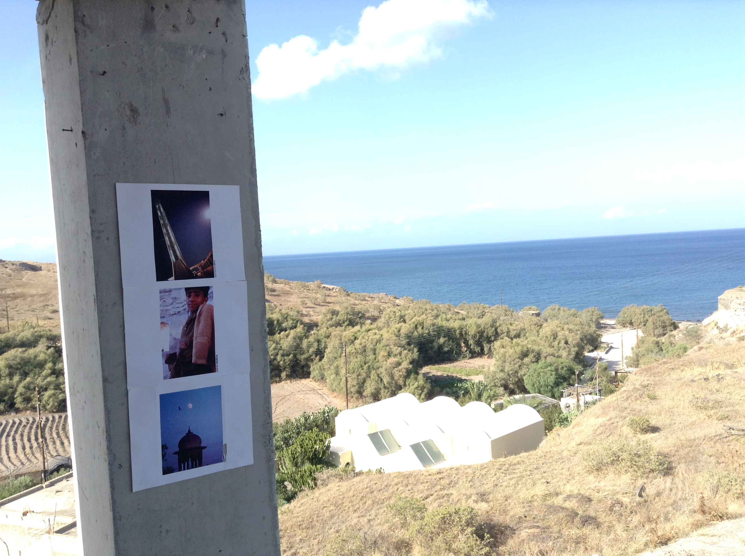 I did another installation in an unfinished hotel near Monolithos Beach. ©2014 Derek Henry Flood