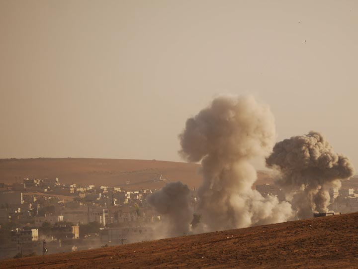 The foreign intervention in Kobane is very asymmetric. ©2014 Derek Henry Flood