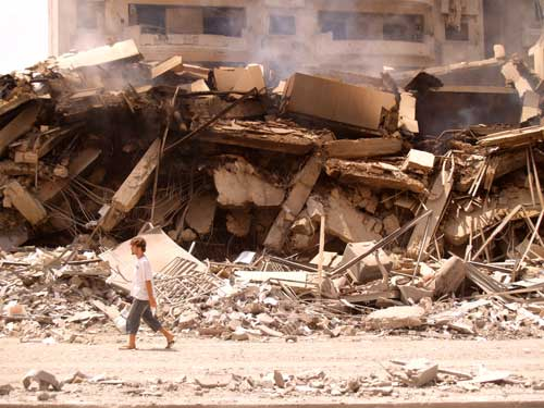 The scale of the destruction in and around Beirut in the summer of 2006 was nothing short of astounding. ©2006 Derek Henry Flood