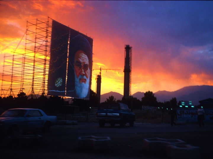 Sunset in Tehran during the then President Khatami's Dialogue Among Civilizations era. Iran was sanctioned and isolated, but its hospitality among ordinary Iranians couldn't be stifled. ©1999 Derek Henry Flood