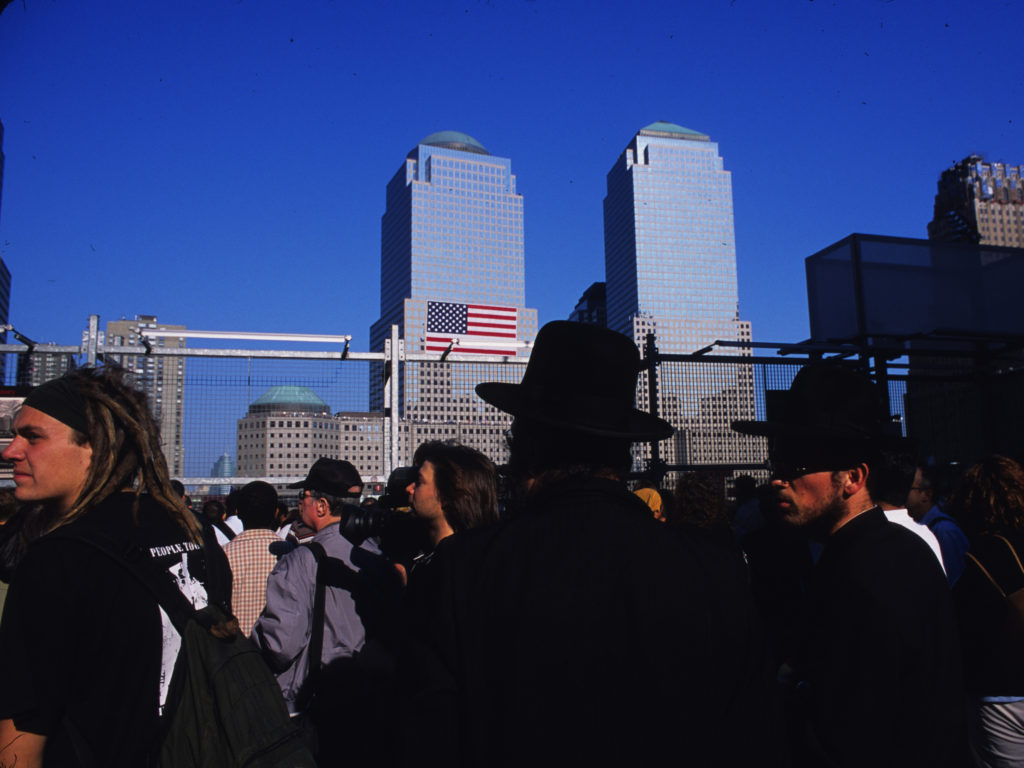 Despite conspiracy theories to the contrary most of New York's diverse communities were affected by 9/11. Here a pair of Hasidic men attand the ceremony held for the second anniversary of 9/11. ©2003 Derek Henry Flood