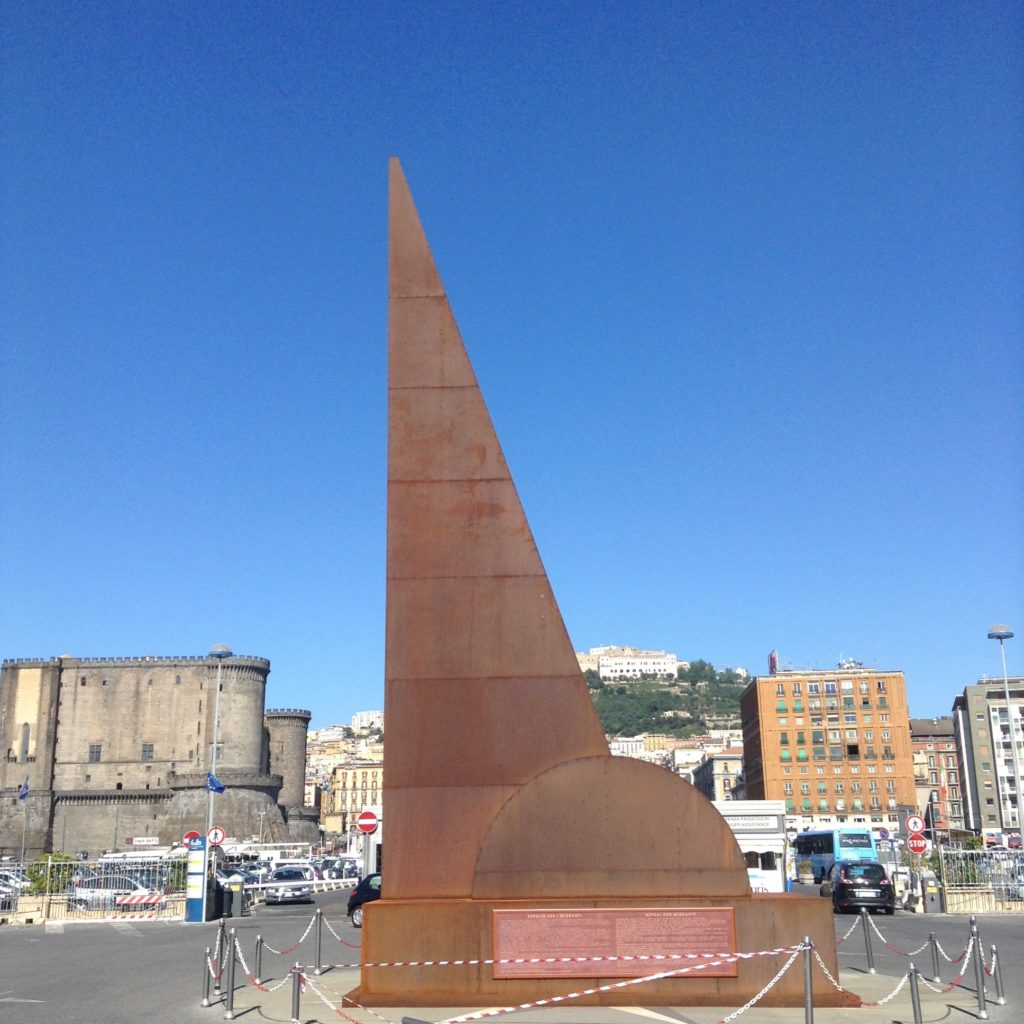 """The monument of the """"Unknown Migrant"""" in Naples, Italy. ©2015 Derek Henry Flood"""