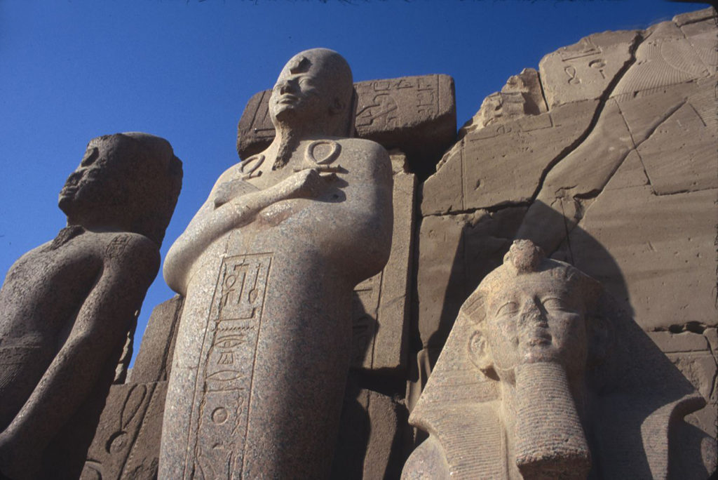 The original image of the pharaohs basking in the African sun. ©2003 Derek Henry Flood