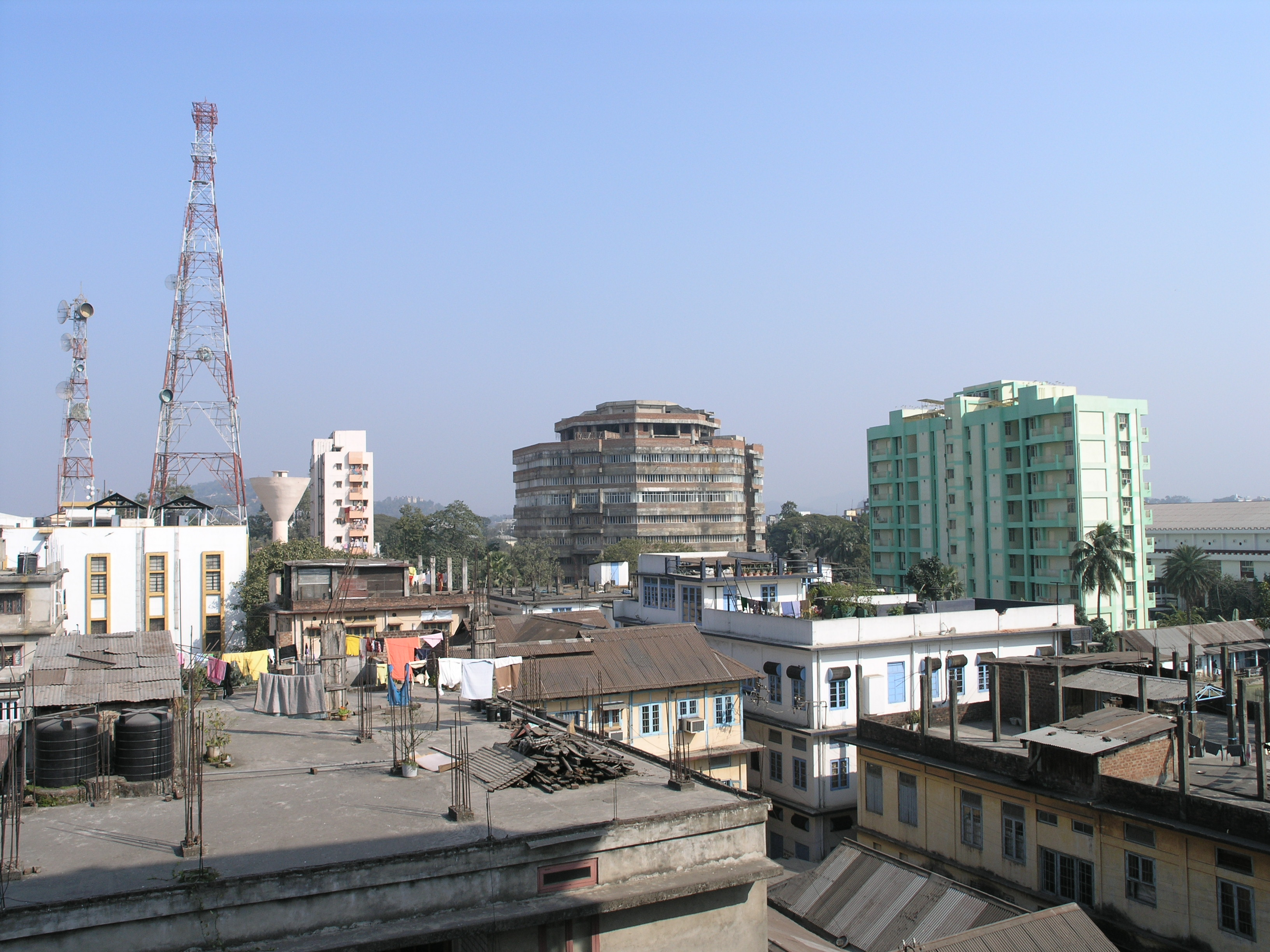 My view of Gauhati, capital of the troubled Indian state of Assam. ©2007 Derek Henry Flood